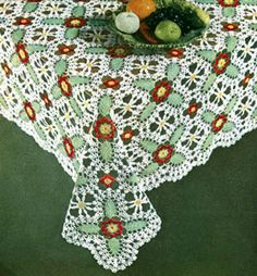Luncheon Cloth crochet pattern from Suggestions for Fairs and Bazaars, originally published by American Thread Co, Star Book No. 98, in 1953.