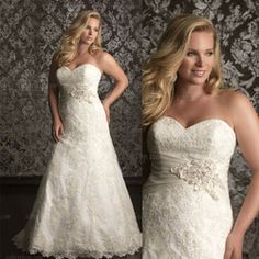 Online Shop 2013 Slim A-line Sweetheart Strapless Lace Plus Size Wedding Dress|Aliexpress Mobile