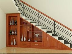House Outside Design, Home Stairs Design, Duplex House Design, Home Building Design, House Front Design, Interior Stairs, Home Interior Design, Single Floor House Design, Staircase Storage