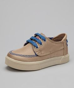 Take a look at this Khaki & Royal Casual Sneaker by Gorilla on #zulily today!