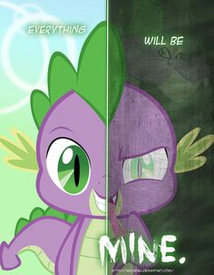 MLP - Two Sides of Spike by *TehJadeh on deviantART