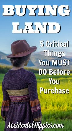 Buying Land: 5 Critical Things To Do Before You Purchase - House Buying - Factors affect Home buying process - If you want to buy land for your dream home you must do these five critical things BEFORE you purchase Homestead Farm, Homestead Living, Farms Living, Homestead Survival, Survival Skills, Survival Tips, Homestead Homes, Survival Stuff, Home Buying Tips