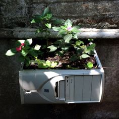 recycled computer provides spring feeling  Wow!  Now I won't have to take it to the dump! :D