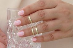Above knuckle ring  Gold stacking rings  by RomisJewelry on Etsy