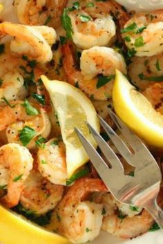 Spicy Garlic Shrimp | Recipe is originally from the Food Network courtesy of Rachael Ray, but I tweaked it to fit our tastes.