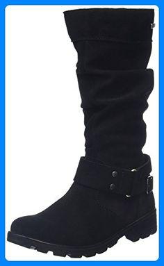 Ricosta Mädchen Riana Langschaft Stiefel, Black (SCHWARZ 091), 37 EU - Stiefel für frauen (*Partner-Link)