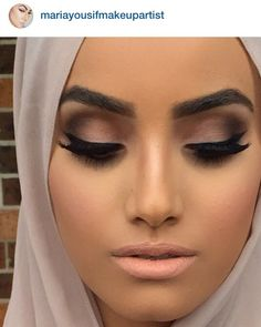 This Matte eye makeup and nude lip, LOVE IT! -Che Maksou