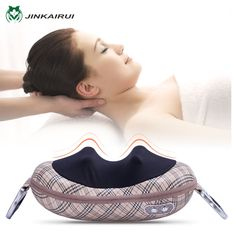 (66.50$)  Buy here - http://ai2m1.worlditems.win/all/product.php?id=32804571408 - JinKaiRui Shiatsu Deep Kneading Massage Pillow Shawl Infrared Heat Massager Relaxation Relieve Neck Shoulder Back Pain