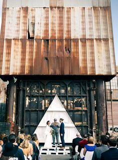 How This Couple Avoided EVERY Wedding Trend Out There #refinery29  http://www.refinery29.com/industrial-san-francisco-wedding