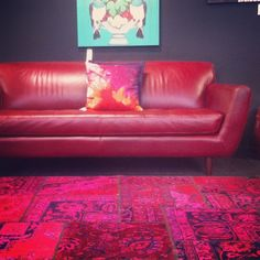 Knox lounge suite matched with a seriously hot #antique rug. #furniturehunters