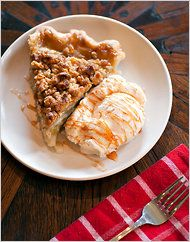 Apple Green Chile Pie with Cheddar Crust and Walnut Streusel. I'll making this within the week, if not today.
