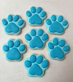 Blues Clues paw print sugar cookies