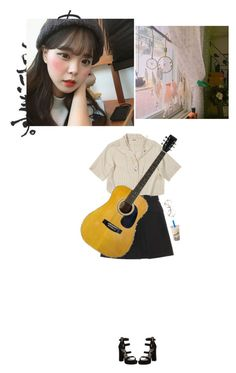 """yerin: guitar practice"" by k-00 ❤ liked on Polyvore featuring Acne Studios, Stuart Weitzman, Wet Seal, Retrò and k0yerin"