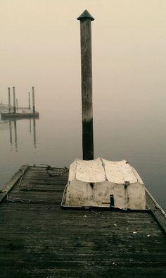 A still, foggy morning om the Hood Canal, Washington State