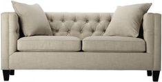 Seating - Lakewood Tufted Sofa | HomeDecorators.com - tufted sofa, modern tufted sofa, taupe tufted sofa, diamond tufted sofa, diamond button tufted sofa,
