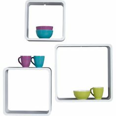 Kare Lounge Cube Square (3/Set) - white   Kare Living Room Furniture   Imagine Living
