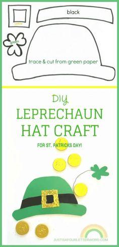 5f62e15458f St. Patrick s Day crafts for kids - FREE Printable Leprechaun Hat Pattern