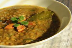 Klasická čočková polévka s párkem Chana Masala, Soup, Baking, Ethnic Recipes, Bakken, Soups, Backen, Sweets, Pastries
