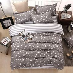 Classic bedding set 5 size grey blue flower bed linens duvet cover set Pastoral bed sheet AB side duvet cover 2017 bed Material: Polyester / Cotton Style: Pastoral is_customized: No Fabric Density: Application Size: feet) Filling: None Cheap Bedding Sets, Bedding Sets Online, Queen Bedding Sets, Luxury Bedding Sets, Duvet Sets, Duvet Cover Sets, Modern Bedding, Affordable Bedding, Contemporary Bedding
