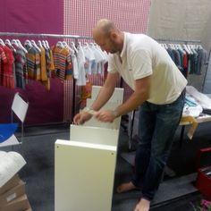 Aufbau unseres Messestands auf der Children's Fashion Cologne 2013.