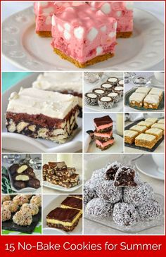 15 No Bake Freezer-Friendly Cookie Recipes for Summer- this collection was incredibly popular last Christmas but they are also ideal treats for summer! Who wants to turn on the oven on those hot days? Xmas Food, Christmas Baking, Christmas Recipes, Christmas Snacks, Holiday Recipes, Baking Recipes, Cookie Recipes, Eid Dessert Recipes, Oven Recipes