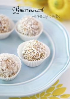 Lemon coconut no bake energy balls - whole30 and paleo compliant
