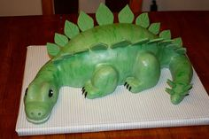 dinosaur birthday cakes for boys | dinosaur cake dinosaur birthday cake the head tail and legs are molded ...