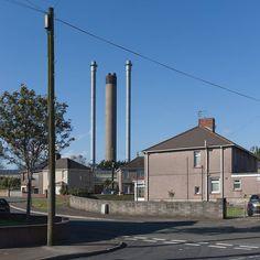 Neighbours II Margam. Chimneys Tata Steelworks Port Talbot Glamorgan. #ukcoastwalk Photo: Quintin Lake www.theperimeter.uk