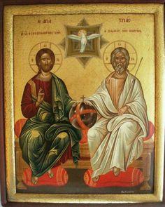 Trinidad, Jesus Christ Images, Orthodox Christianity, Madonna And Child, Religious Icons, Orthodox Icons, Heavenly Father, Savior, Fresco