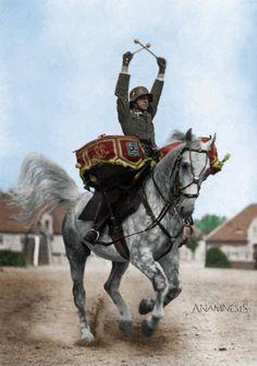 German cavalry drummer WW2