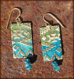 A personal favorite from my Etsy shop https://www.etsy.com/listing/262513115/southwestern-shades-tribal-brass-and