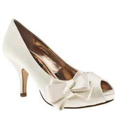 Women's Stone Schuh Forest Side Bow at Schuh. An incredibly sweet and simple peep toe design from the current collection at Schuh! The Forest features a shiny satin upper with gorgeous side bow embellishment and feminine metallic lining! Manageable heel with a height of 8cm to finish!