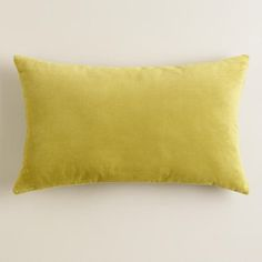 """One of my favorite discoveries at WorldMarket.com: Oasis Velvet Throw Pillow - 16"""" x 20"""" - $16.99 each x 2 for living room chairs - $34"""