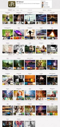 Check out our NEW Photography Pinterest Account - @DP School - 38 Boards (so far) and completely dedicated to different aspects of Photography - curating the best photography tutorials and images from around the web!    It's at http://pinterest.com/dpschool/