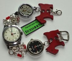 Recycled Vintage Watches Bracelet Handmade By Recycloanalyst.