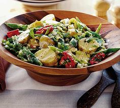 English garden salad - this recipe is easily halved to serve two, or doubled for a crowd