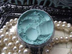 Splash  Aqua Blue Satin Eyeshadow by TaterRoundsBeauty on Etsy, $3.50