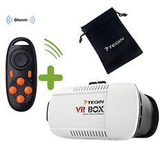 www.realidadvirtual360vr.com TEQIN Visor VR (Realidad Virtual)-BOX 3D de Vídeo de Realidad Virtual con Soporte para Pantalla + Mando Bluetooth - https://realidadvirtual360vr.com/producto/teqin-visor-vr-box-3d-de-video-de-realidad-virtual-con-soporte-para-pantalla-mando-a-distancia-bluetooth-conjunto-2-en-1-para-smartphone-mejor-que-google-cardboard/ -  * Acepta vídeo 3D side by side. * Las gafas 3D están fabricadas de ABS respetuoso con el medioambiente y resina. Diseño