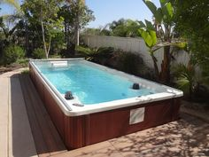 The Original Endless Pool provides the ability to swim endlessly, right in the comfort of your backyard, garage, deck, or anywhere you want to place it.