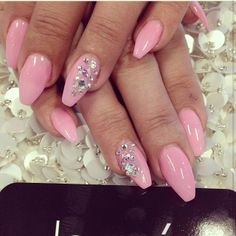 Full set with Swarovski $55 #laquenailbar - @laquenailbar- #webstagram