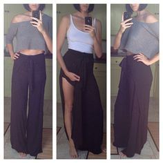 Side Split Wrap Pants  High Waisted Extra by PigmentPlusSurface, $45.00