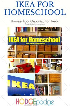 We did this homeschool makeover in stages. The school room, the family room and even children's bedrooms. Art Lessons, Family Room, Ikea, Homeschool, Bedrooms, Organization, Children, Inspiration, Home Decor
