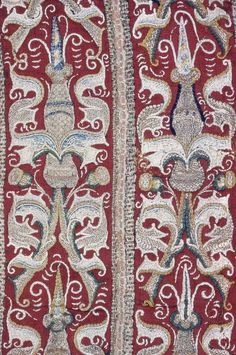 German 15th century Silk embroidery on twill weave wool Art Institute Chicago