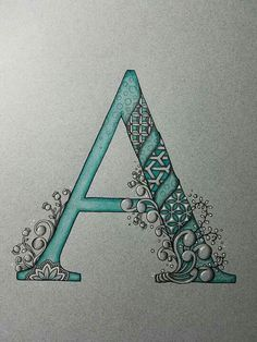 """Beautiful letter """"a"""" typography, lettering, and fonts рисунк Doodle Alphabet, Alphabet Art, Alphabet And Numbers, Letter Art, Doodle Art, Doodle Lettering, Creative Lettering, Lettering Design, Hand Lettering"""