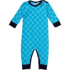 freds world - blauer Bio Babystrampler mit Druckknöpfen   greenstories