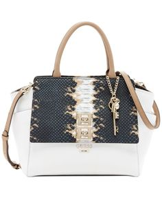 6bf52c791875 Guess Talan Large Top Handle Satchel ( 118) ❤ liked on Polyvore featuring  bags