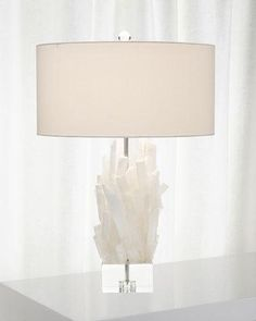 John-Richard Collection Selenite Table Lamp II Selenite+Table+Lamp+II+by+John-Richard+Collection+at+Horchow. Selenite Lamp, Large Lamps, Retro Lamp, Wood Lamps, Contemporary Lamps, Crystal Decor, Hanging Lights, Decorative Accessories, A Table