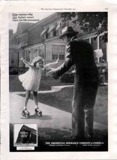 Advertisement Description: Prudential Insurance Artist: unknown Magazine: The American Date: 1931 Size: 8 X 11 Condition:Good condition Insurance Ads, Life Insurance, Vintage Advertisements, Vintage Ads, Vintage Style, Best Ads, Square Photos, Photo Checks, Father Daughter