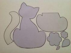 molde gato porta lembrete