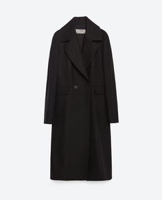 Image 11 of LONG WOOL LAPEL COAT from Zara